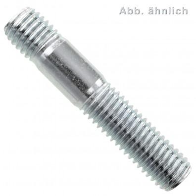100 Stiftschrauben DIN 939 5.8 verzinkt M8 x 25 mm
