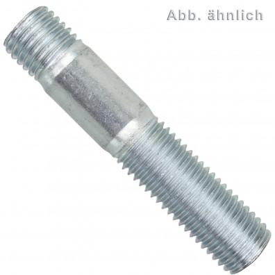 10 Stiftschrauben M20 x 70 mm - DIN 938 - verzinkt 8.8