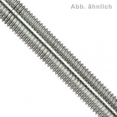 1 Gewindestange M24 x 1 m - Feingewinde, Steigung 2 mm - verzinkt 4.6 - DIN 976