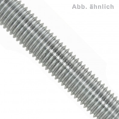 Gewindestange DIN 975/976 - 1000 mm - Whitworthgewinde - galvanisch verzinkt - Festigkeitsklasse 4.6