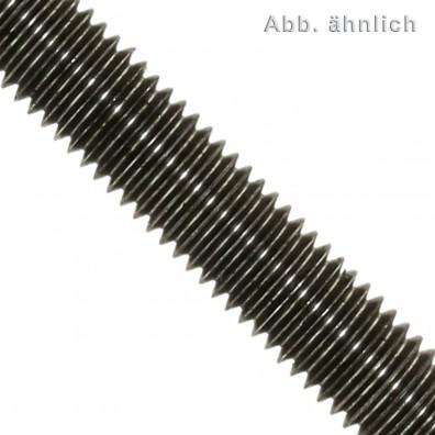 1 Gewindestange M8 x 1000 mm - Stahl 8.8 , brüniert - DIN 976