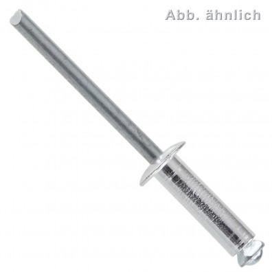 Blindnieten - Aluminium / verzinkter Dorn - Spreizschaft - Flachkopf