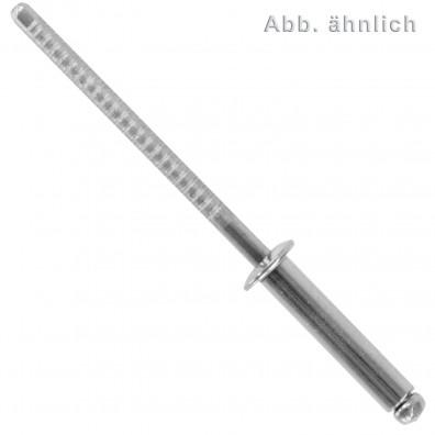 500 Blindnieten Edelstahl A2 - 4,8 x 16 mm - Flachkopf - DIN 7337