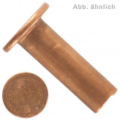 Halbhohlnieten - für Brems-und Kupplungsbeläge - DIN 7338 - Kupfer