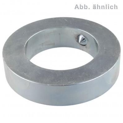 25 Stellringe DIN 705 Form A Stahl verzinkt 4mm