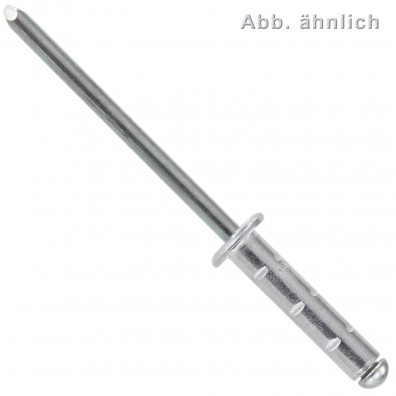 Blindnieten - Aluminium / verzinkter Dorn - Typ MB - Flachkopf