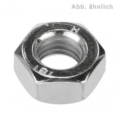 100 Sechskantmuttern M6 - SW10 - Stahl 8.0 - DIN 934