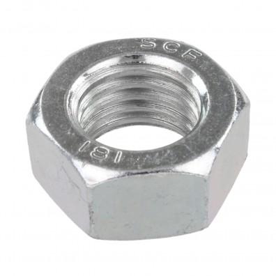 50 Sechskantmuttern - M27 - DIN 934 - galvanisch verzinkt - Festigkeitsklasse 8