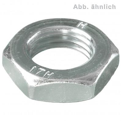 500 Sechskantmuttern M12 - SW19 - niedrige Form - galv. verzinkt 17H - DIN 936