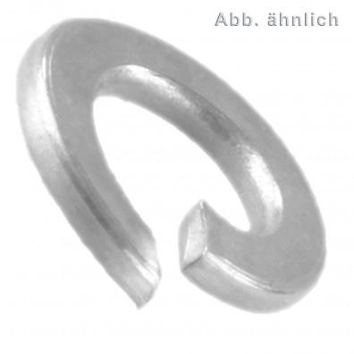 1000 Federringe DIN 127 Form B galvanisch verzinkt dickschichtpassiviert für M8