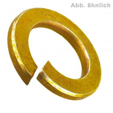 Federringe DIN 127 - Form B - Federstahl galvanisch verzinkt gelb