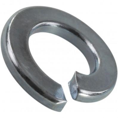 100 Federringe für M6 - Federstahl - galvanisch verzinkt - DIN 127 Form B