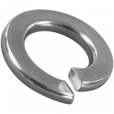 100 Federringe für M8 - Federstahl - galvanisch verzinkt - DIN 127 Form B