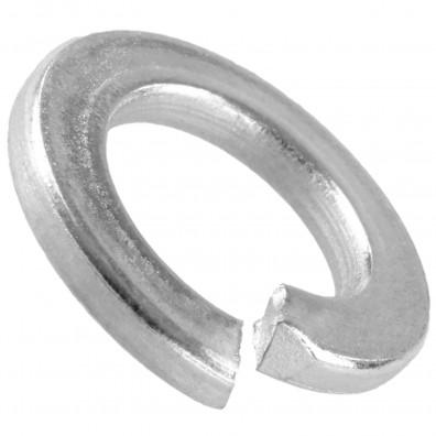 100 Federringe DIN 127 Form A Federstahl galvanisch verzinkt dickschicht für M20