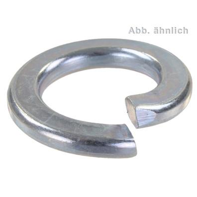 50 Federringe DIN 127 galvanisch verzinkt, Stahl, Form A für M30