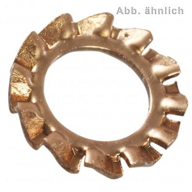 2000 Fächerscheiben für M3 - DIN 6798 - Form A - Bronze
