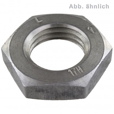 Sechskantmuttern - DIN 936 - galvanisch verzinkt - niedrige Form - Linksgewinde