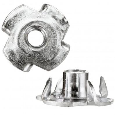 200 Einschlagmuttern M5 x 8mm - galvanisch verzinkt