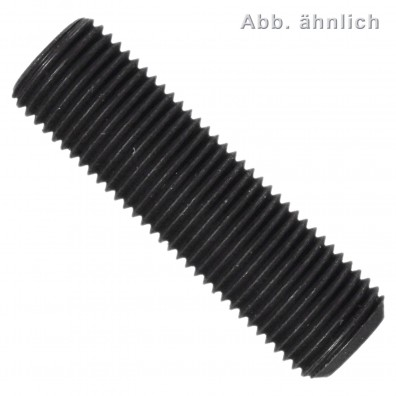 100 Gewindestifte M8x16mm - DIN 913 - Kegelkuppe - 0,5mm Feingewinde - blank