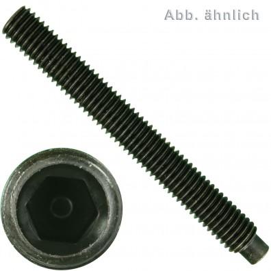 200 Gewindestifte DIN 915 45H mit Zapfen Innensechskant M6 x 18
