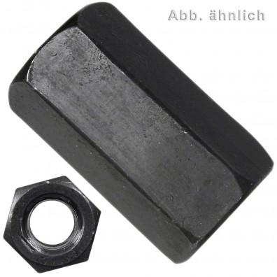 Sechskantmuttern Stahl 10 DIN 6334 blank