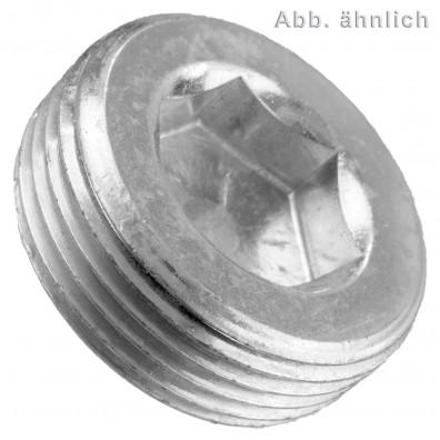 10 Verschlussschrauben DIN 906 kegeliges Feingewinde verzinkt M33 x 2 mm