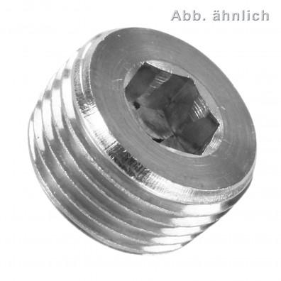 Verschlussschrauben - DIN 906 - Feingewinde - Edelstahl A4