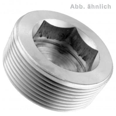 Verschlussschrauben - DIN 906 - kegeliges Rohrgewinde - blank
