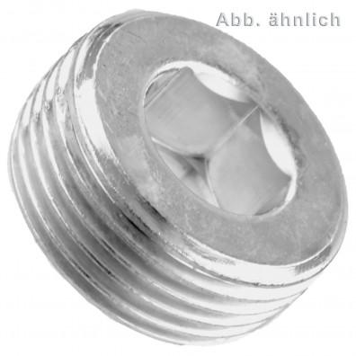 Verschlussschrauben - DIN 906 - kegeliges Rohrgewinde - verzinkt