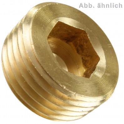 Verschlussschrauben Rohrgewinde - DIN 906 - Messing