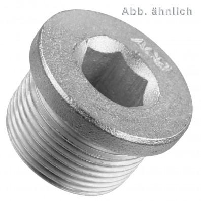 Verschlussschrauben - DIN 908 - zylindrisches Feingewinde - verzinkt