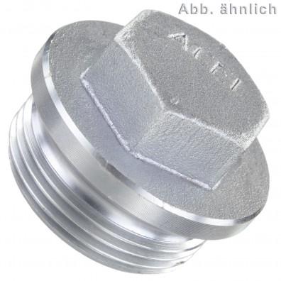 1 Verschlussschrauben DIN 910 schwer zylindrisches Rohrgewinde verz 1 1-4 Zoll