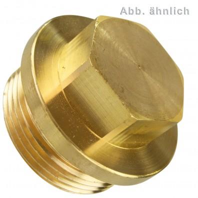25 Verschlussschrauben 5-8 Zoll Rohrgewinde - DIN 910 - Messing