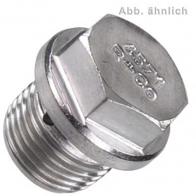 Verschlussschrauben - Rohrgewinde - DIN 910 - Edelstahl A5