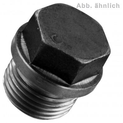 25 Verschlussschrauben DIN 910 schwer zylindrisches Rohrgewinde 5-8 Zoll