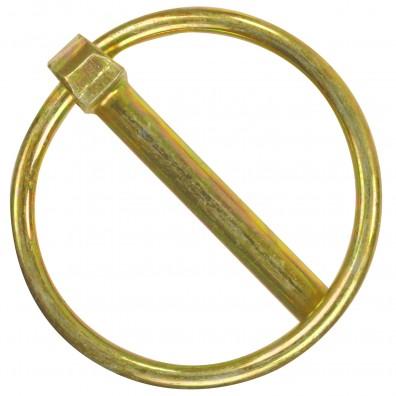 Klappstecker DIN 11023 gelb verzinkt