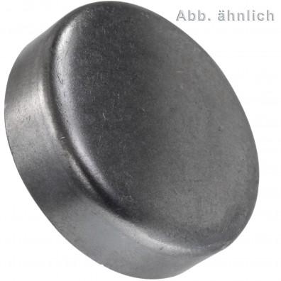 100 Verschlussdeckel zum Eindrücken 14 mm - DIN 443 - blank