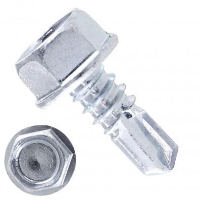 500 Bohrschrauben Form K DIN 7504 mit Sechskant galvanisch verzinkt 6,3x16