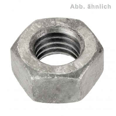 5 Sechskantmuttern M42 - SW65 - Stahl 10.0 galv. verzinkt - DIN 934