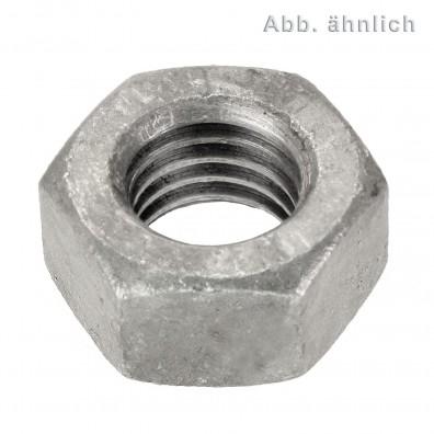 100 Sechskantmuttern M18 - Feingew. 1,5mm - SW27 - 10.0 galv. verzinkt - DIN 934