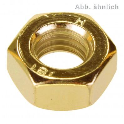 Sechskantmuttern DIN 934 - Normalgewinde - galvanisch verzinkt gelbchromatiert - Festigkeitsklasse 10