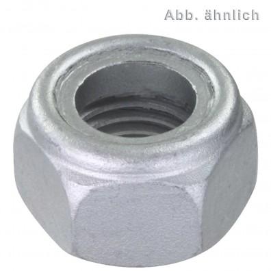 500 Sicherungsmuttern M10 - DIN 985 - Festigkeit 8 - zinklamellenbeschichtet