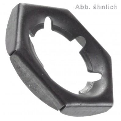 50 Sicherungsmuttern M33 - DIN 7967 - Federstahl