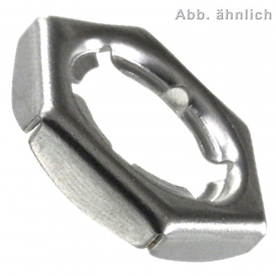 100 Sicherungsmuttern M8 - DIN 7967 - Edelstahl A4