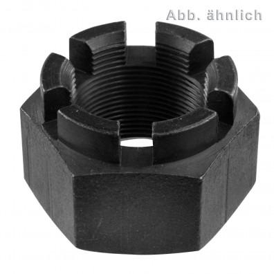 1 Kronenmutter M52 - DIN 935-1 - Festigkeit 6 - 3 mm Feingewinde, blank