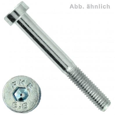Zylinderschrauben DIN 7984 - Innensechskant - Festigkeit 8.8 - galvanisch verzinkt