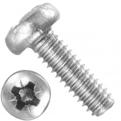 1000 Linsenschrauben M2 x 6 mm - DIN 7985 - PZ - Edelstahl A2