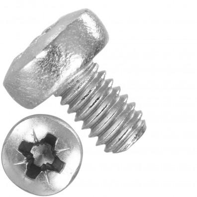 1000 Linsenschrauben M2,5 x 4mm - DIN 7985 - PZ - Edelstahl A2