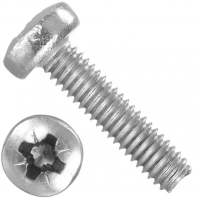 1000 Linsenschrauben M2,5 x 10 mm - DIN 7985 - PZ - Edelstahl A2