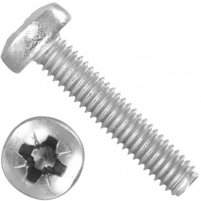 1000 Linsenschrauben M2,5 x 12 mm - DIN 7985 - PZ - Edelstahl A2